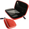 View Item iGadgitz Red Eva Hard Case Cover for Toshiba USB Portable External Hard Drives 160gb, 250gb, 320gb, 400gb, 500gb & 640gb