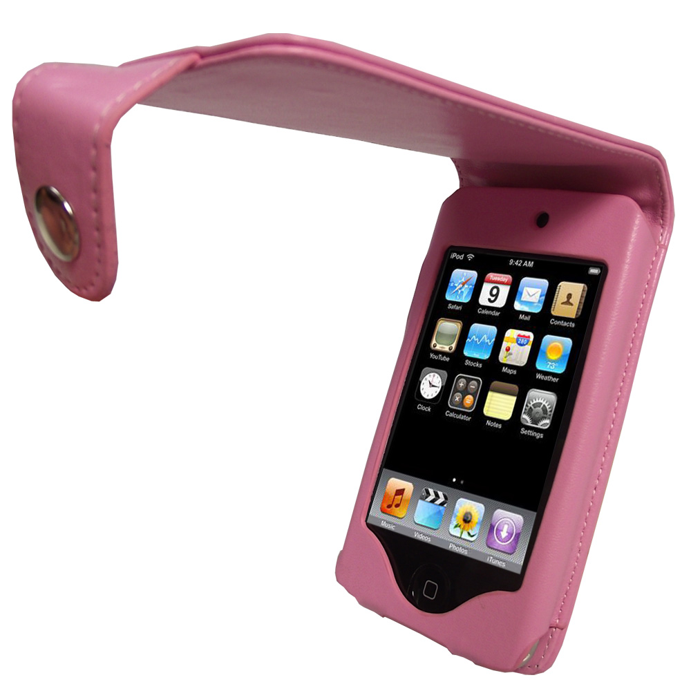 Pink PU Leather Case for Apple iPod Touch 2nd 3rd Gen 2G 3G iTouch Cover Holder Enlarged Preview
