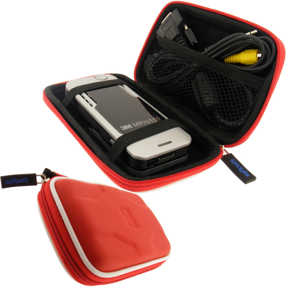 Red hard case cover for optoma pk101 pico projector ebay for Pocket projector case