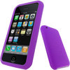 View Item iGadgitz Purple Silicone Skin Case Cover Holder for Apple iPhone 3G & 3GS + Screen Protector