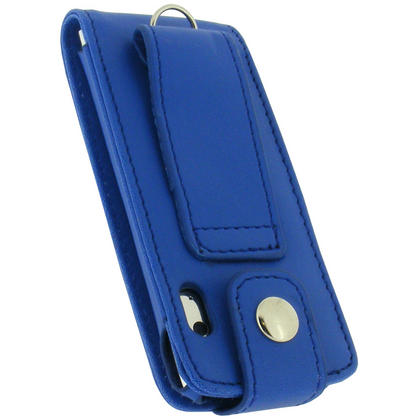 iGadgitz BLUE PU Leather Case for Apple iPod Nano 5th Gen (with Video Camera) + Detachable Carabiner Thumbnail 3