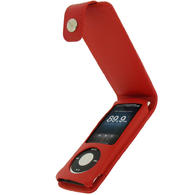 View Item iGadgitz RED PU Leather Case Cover Holder for New Apple iPod Nano 5th Gen Generation (with Video Camera) 8GB, 16GB + Detachable Carabiner