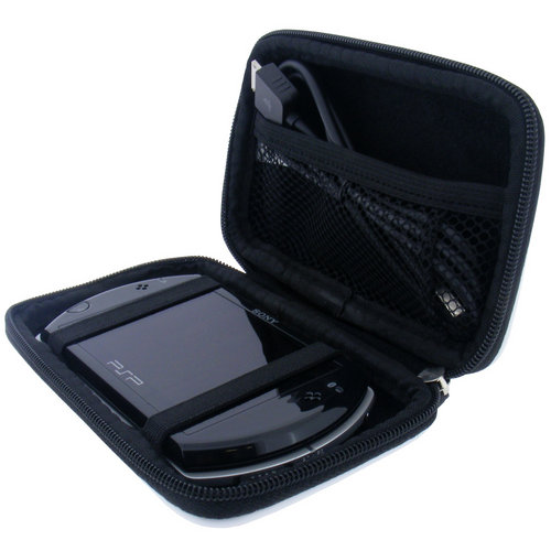 View Item iGadgitz Black EVA Hard Case Cover Suitable for Sony PSP Go! Portable Games Console