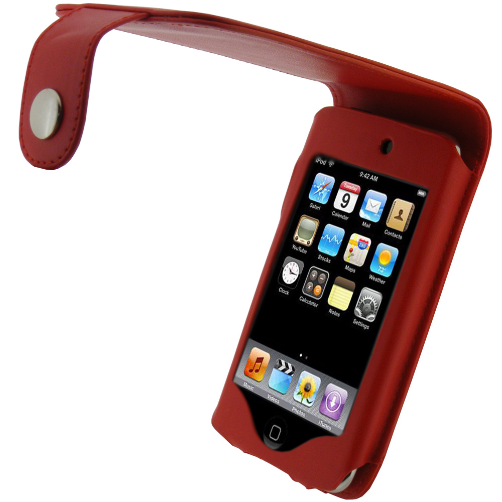 iGadgitz Red PU Leather Case Cover for Apple iPod Touch ...