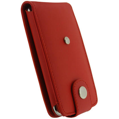 iGadgitz Red PU Leather Case Cover for Apple iPod Touch 2nd & New 3rd Generation 8gb, 16gb, 32gb & 64gb + Belt Clip Thumbnail 3