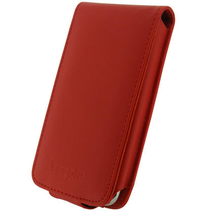 iGadgitz Red PU Leather Case Cover for Apple iPod Touch 2nd & New 3rd Generation 8gb, 16gb, 32gb & 64gb + Belt Clip Thumbnail 2