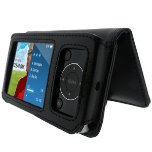 iGadgitz Black Genuine Leather Case Cover for Philips GoGear SA5285, SA5295 Opus MP3 Player Preview