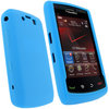 View Item iGadgitz Blue Silicone Skin Case Cover for BlackBerry Storm 2 9550 / 9520 + Screen Protector