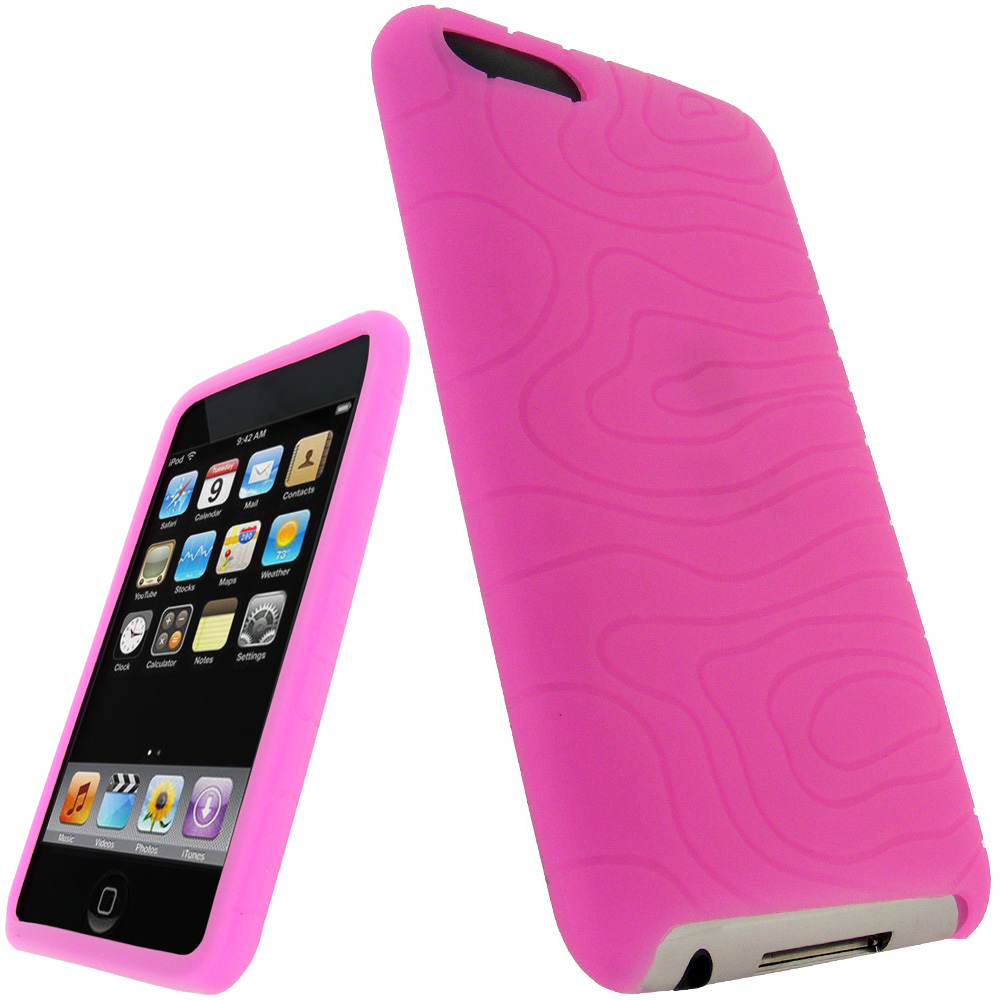 iGadgitz Pink Silicone Skin Case for Apple iPod Touch 2nd & 3rd Generation 8gb, 16gb, 32gb & 64gb + Screen Protector