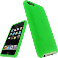 iGadgitz Green Silicone Skin Case for Apple iPod Touch 2nd & 3rd Generation 8gb, 16gb, 32gb & 64gb + Screen Protector