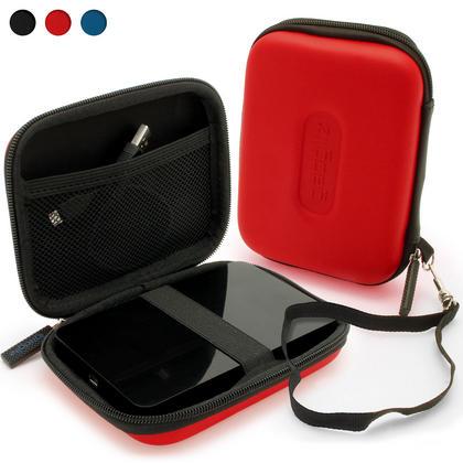 "iGadgitz Red EVA Hard Case Cover for Samsung M3 & P3 500GB, 1TB & 2TB USB 3.0 Slimline 2.5"" Portable Hard Drive Thumbnail 1"