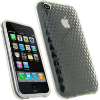 View Item iGadgitz Diamond Clear Durable Crystal Gel Skin (Thermoplastic Polyurethane TPU) Case Cover for Apple iPhone 3G & 3GS + Screen Protector