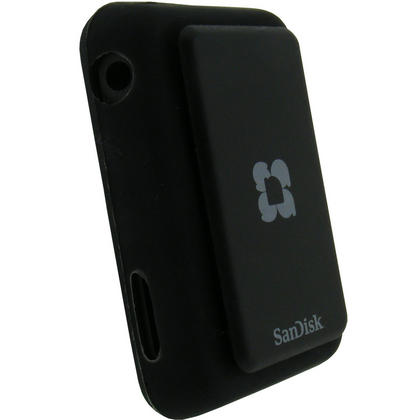 iGadgitz BLACK Silicone Skin Case Cover for SanDisk Sansa Clip Plus (+) MP3 Player Thumbnail 3