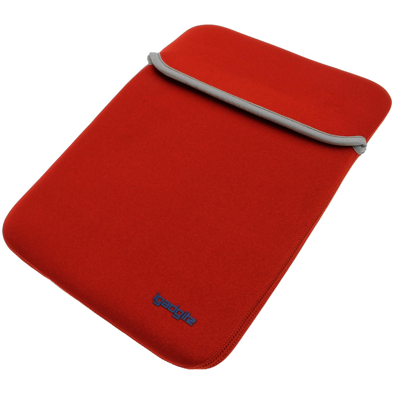 Rouge noir tui housse case r versible pour apple mackbook for Housse neoprene