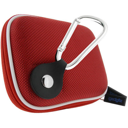 iGadgitz Red EVA Travel Hard Case Cover for Digital Cameras / Video Pocket Camcorders Thumbnail 2
