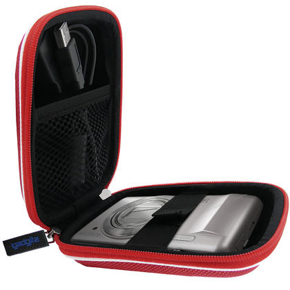 iGadgitz Red EVA Travel Hard Case Cover for Digital Cameras / Video Pocket Camcorders Thumbnail 4
