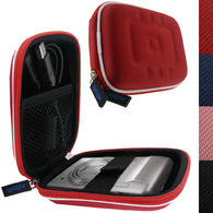 iGadgitz Red EVA Travel Hard Case Cover for Digital Cameras / Video Pocket Camcorders