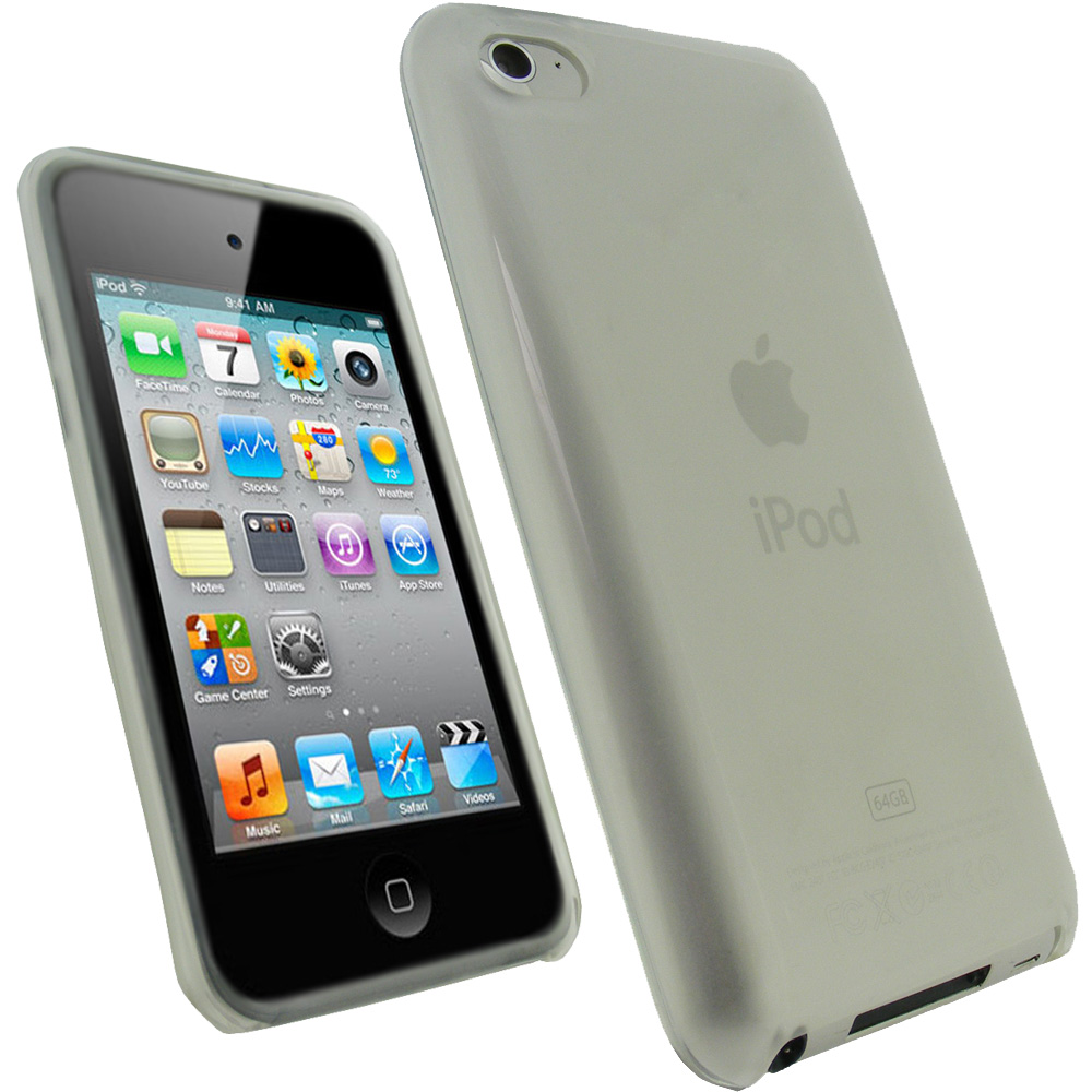 iGadgitz Clear Durable Crystal Gel Skin Case Cover TPU for Apple iPod Touch 4th Gen 8gb, 32gb, 64gb + Screen Protector