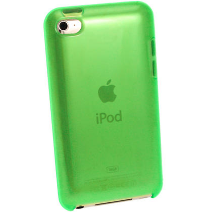 iGadgitz Green Durable Crystal Gel Skin Case Cover TPU for Apple iPod Touch 4th Gen 8gb, 32gb, 64gb + Screen Protector Thumbnail 3