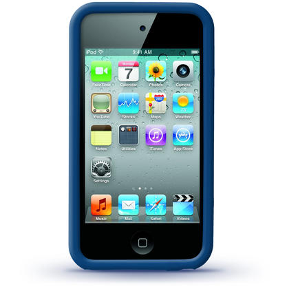 iGadgitz Blue Silicone Skin Case Cover for Apple iPod Touch 4th Generation 8gb, 32gb, 64gb + Screen Protector Thumbnail 3