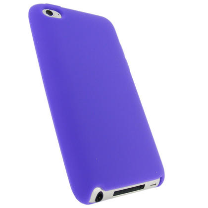 iGadgitz Purple Silicone Skin Case Cover for Apple iPod Touch 4th Generation 8gb, 32gb, 64gb + Screen Protector Thumbnail 3