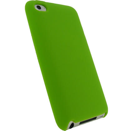 iGadgitz Green Silicone Skin Case Cover for Apple iPod Touch 4th Generation 8gb, 32gb, 64gb + Screen Protector Thumbnail 3