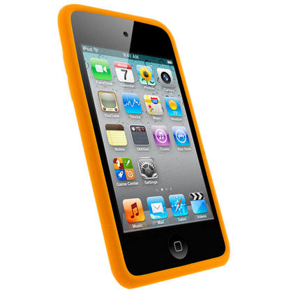 iGadgitz Orange Silicone Skin Case Cover for Apple iPod Touch 4th Generation 8gb, 32gb, 64gb + Screen Protector Thumbnail 2