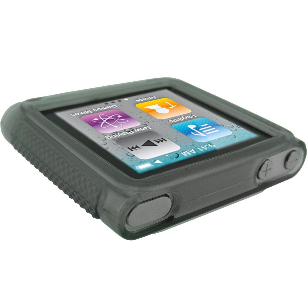 black tpu gel case for apple ipod nano 6th gen generation