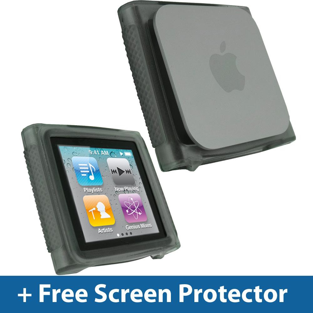 black tpu gel case for apple ipod nano 6th gen generation. Black Bedroom Furniture Sets. Home Design Ideas