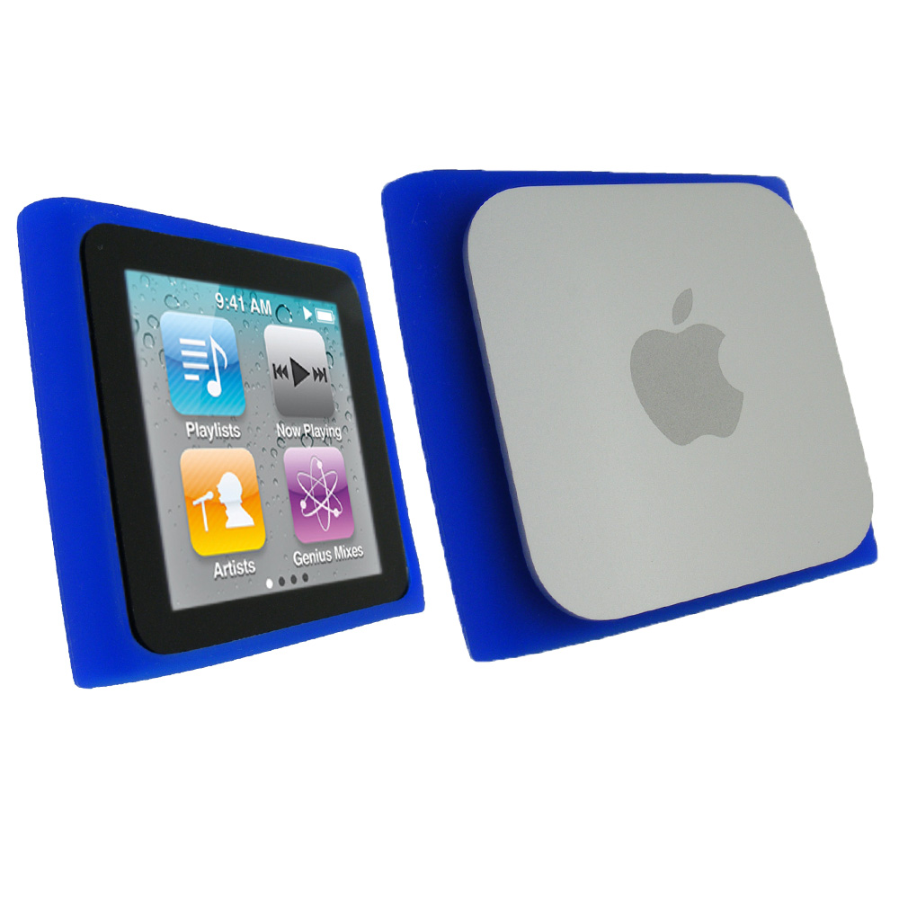 iGadgitz Blue Silicone Skin Case Cover for Apple iPod Nano ...