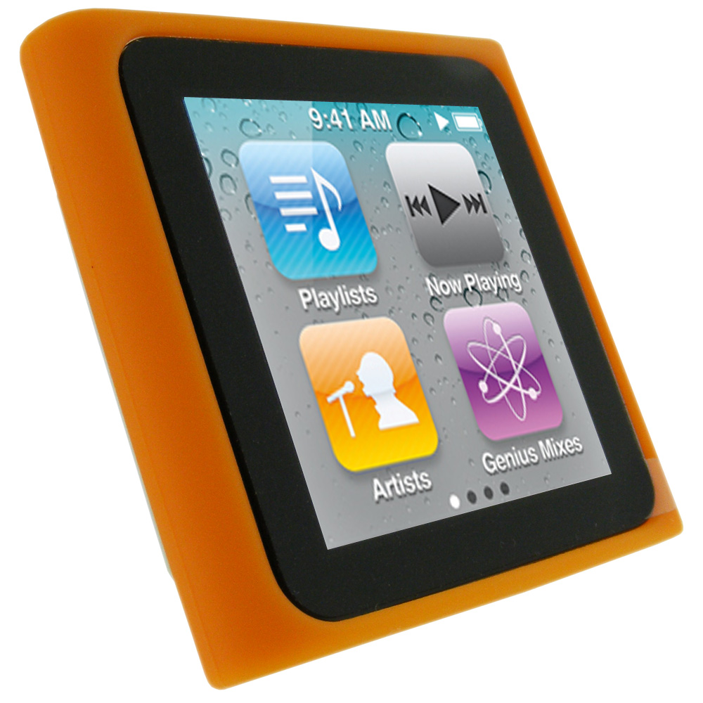 iGadgitz Orange Silicone Skin Case Cover for Apple iPod ...
