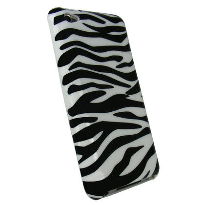 iGadgitz Black & White Zebra Stripe Print Hard Case for Apple iPod Touch 4th Gen 8gb, 32gb, 64gb + Screen Protector Thumbnail 3