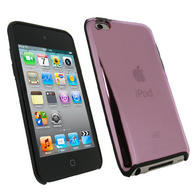 iGadgitz Pink & Black Gel TPU &  Hard Case Cover for Apple iPod Touch 4th Generation 8gb, 32gb, 64gb + Screen Protector