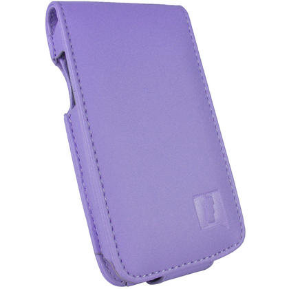 iGadgitz Purple PU Leather Case Cover for Apple iPod Touch 4th Gen 8gb, 32gb & 64gb + Belt Clip & Screen protector Thumbnail 2