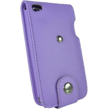iGadgitz Purple PU Leather Case Cover for Apple iPod Touch 4th Gen 8gb, 32gb & 64gb + Belt Clip & Screen protector Thumbnail 3