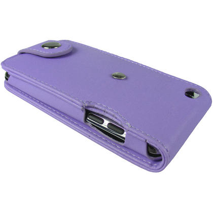 iGadgitz Purple PU Leather Case Cover for Apple iPod Touch 4th Gen 8gb, 32gb & 64gb + Belt Clip & Screen protector Thumbnail 5