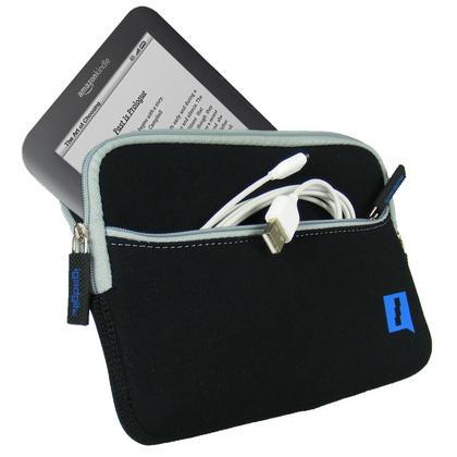 iGadgitz Black Neoprene Sleeve Case with Pocket for Amazon Kindle 3 Keyboard Graphite (Version Released Aug 2010) Thumbnail 2