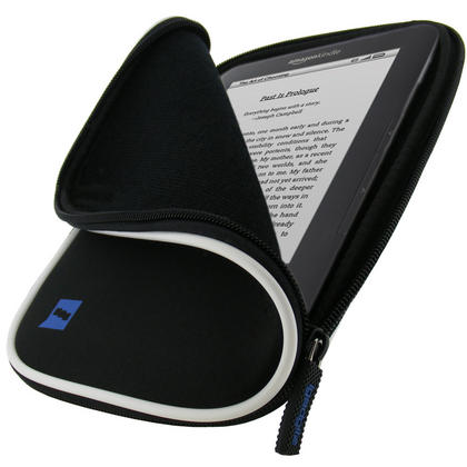 iGadgitz Black Neoprene Sleeve Case with Pocket for Amazon Kindle 3 Keyboard Graphite (Version Released Aug 2010) Thumbnail 1