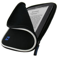 iGadgitz Black Neoprene Sleeve Case with Pocket for Amazon Kindle 3 Keyboard Graphite (Version Released Aug 2010)