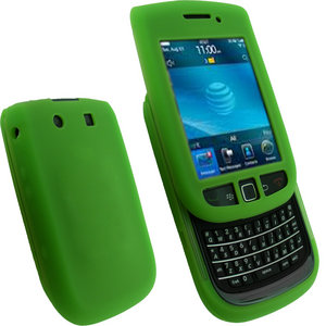 iGadgitz Green Silicone Skin Case Cover for BlackBerry Torch 9800 + Screen Protector Preview