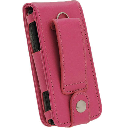 iGadgitz Pink PU Leather Case Cover for Sony Walkman NWZ-E450 Series & E460 Series + Screen Protector Thumbnail 3