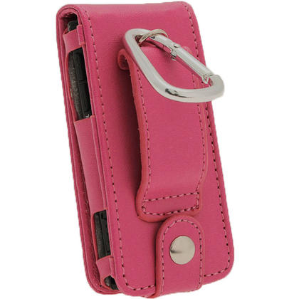 iGadgitz Pink PU Leather Case Cover for Sony Walkman NWZ-E450 Series & E460 Series + Screen Protector Thumbnail 4
