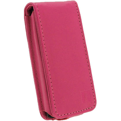 iGadgitz Pink PU Leather Case Cover for Sony Walkman NWZ-E450 Series & E460 Series + Screen Protector Thumbnail 2