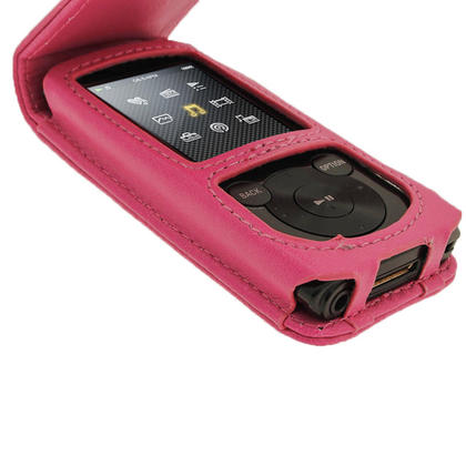 iGadgitz Pink PU Leather Case Cover for Sony Walkman NWZ-E450 Series & E460 Series + Screen Protector Thumbnail 5