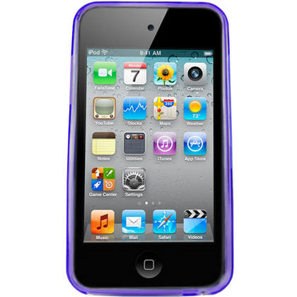 iGadgitz Circle Purple Gel Case TPU for Apple iPod Touch 4th Generation 8gb, 32gb, 64gb + Screen Protector Thumbnail 2