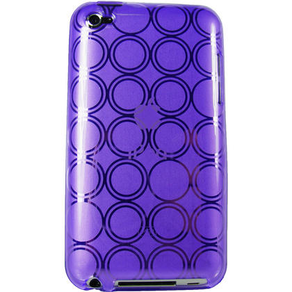 iGadgitz Circle Purple Gel Case TPU for Apple iPod Touch 4th Generation 8gb, 32gb, 64gb + Screen Protector Thumbnail 3