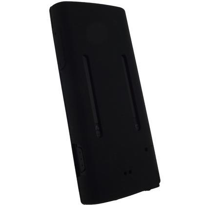 iGadgitz Black Silicone Skin Case Cover for Sony Walkman NWZ-E450 Series + Screen Protector Thumbnail 3