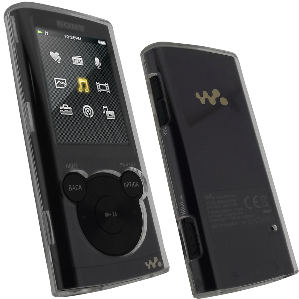 iGadgitz Clear Crystal Hard Case Cover for Sony Walkman NWZ-E450 Series (NWZ-E450, NWZ-E453, NWZ-E454, NWZ-E455)