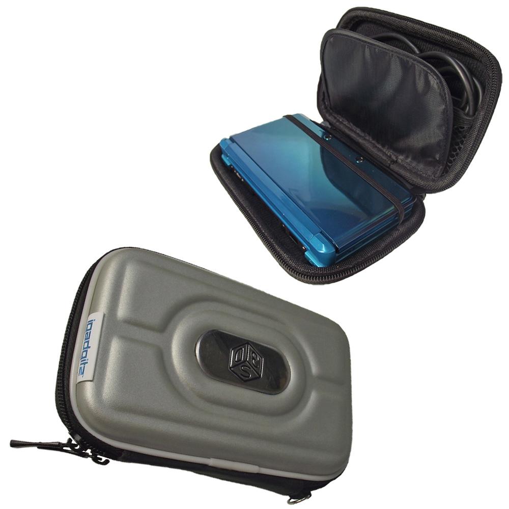 iGadgitz Silver EVA Hard Case Cover for Nintendo 3DS + set of 2 Screen Protectors