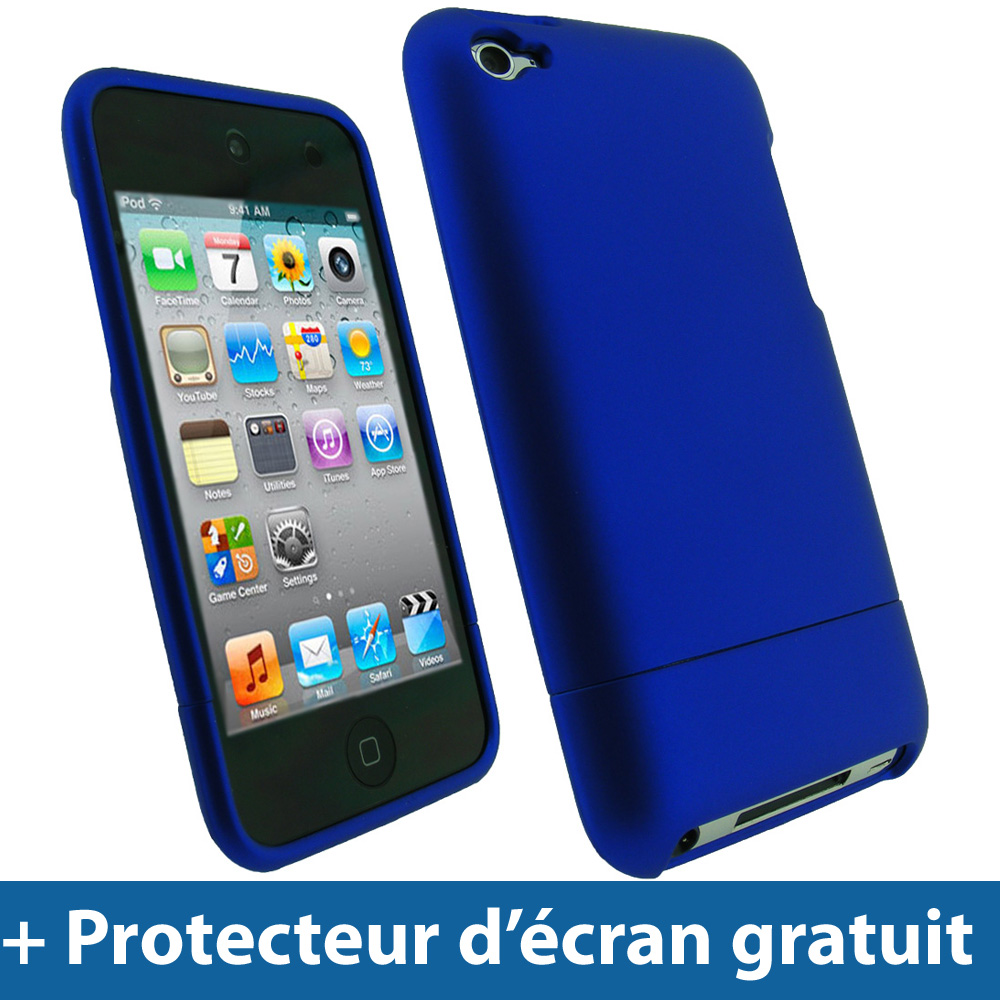 Bleu coque rigide pour apple ipod touch 4g 4 me itouch 8 for Housse ipod touch 5